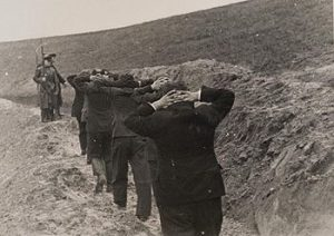 Polish teachers from Bydgoszcz being led to their execution site.